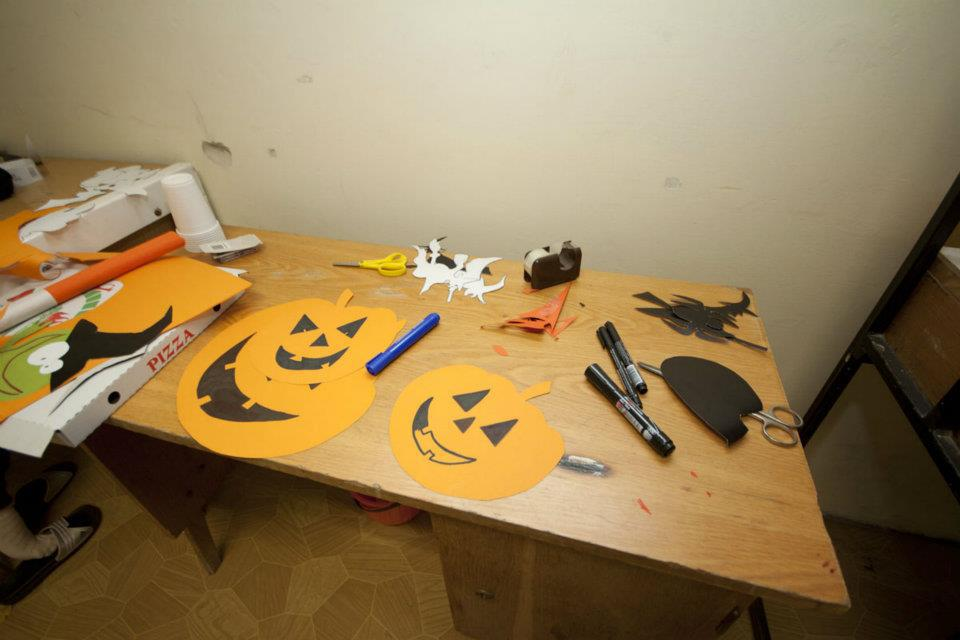 Halloween dekoráció tökök